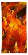 Red Oak Leaf Beach Towel