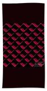 Red Ortho Beach Towel