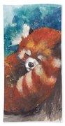 Red Panda Sleeping Beach Towel