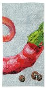 Red Pepper Beach Towel