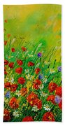 Red Poppies 450708 Beach Towel