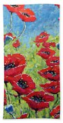 Red Poppies By Prankearts Beach Towel
