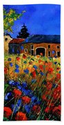 Red Poppies In Houroy Beach Towel