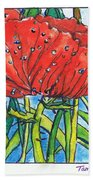 Red Poppy 1 Beach Towel