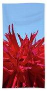 Red Purple Dahlia Flower Art Print Giclee Baslee Troutman Beach Towel