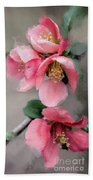 Red Quince Beach Towel