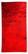 Red Rain Droplets Beach Towel