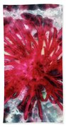 Red, Red... Flower Beach Towel