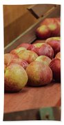 Red Ripe Macintosh Apples Beach Towel