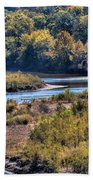 Red River Bend Beach Towel