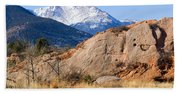 Red Rock And Pikes Peak Beach Towel