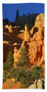 Red Rock Canoyon At Sunset Beach Towel