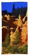 Red Rock Canoyon Moonrise Beach Towel