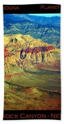 Red Rock Canyon Poster Print Beach Towel