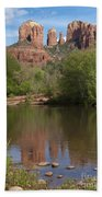 Red Rock Crossing In Sedona Beach Towel by Sandra Bronstein