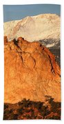Red Rock Beach Towel by Eric Glaser