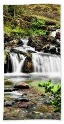 Red Rock Falls, Glacier National Park, Montana Beach Towel