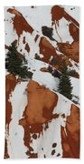 Red Rock Greenery Beach Towel