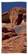 Red Rock Texture 2 Beach Towel
