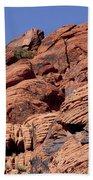 Red Rock Texture Beach Towel