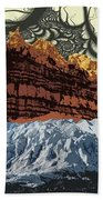 Red Rock White Ice Beach Towel