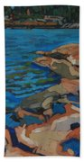 Red Rocks And Pooled Water Beach Towel