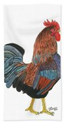 Red Rooster Beach Towel