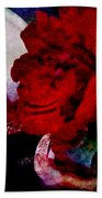 Red Rose And The Mirror Beach Towel