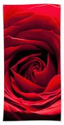 Red Rose Colour Isolated On A Green Background. Beach Towel