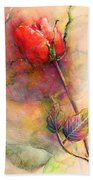 Red Rose From The Past Beach Towel