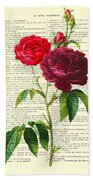 Red Roses For Valentine Beach Sheet