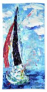 Red Sail Beach Towel