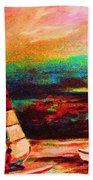 Red Sails In The Sunset Beach Towel