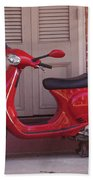 Red Scooter Beach Towel