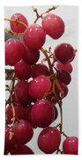 Red Seedless Grape Cluster Beach Towel