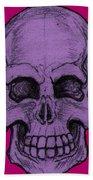 Purple Skull Beach Towel
