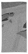 Red Snapper Inlay In Grayscale Beach Towel