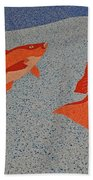 Red Snapper Inlay On Alabama Welcome Center Floor Beach Towel