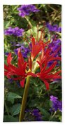 Red Spider Lily Beach Towel