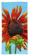 Red Sunflowers-adult And Child Beach Towel