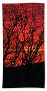 Red Sunrise Over The Ozarks Beach Towel