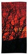 Red Sunrise Over The Ozarks Beach Towel