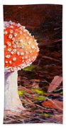 Red Toadstool Beach Sheet