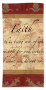 Red Traditional Faith Beach Towel