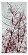 Red Tree Beach Towel