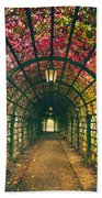 Red Tunnel Beach Towel