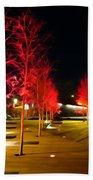 Red Urban Trees Beach Towel