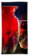 Red Vase Beach Towel