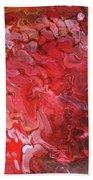 Red Velvet Beach Towel