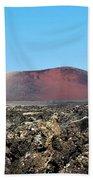 Red Volcano Beach Towel